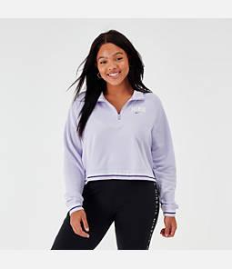Women's Nike Sportswear Half-Zip Fleece Top - Plus Size