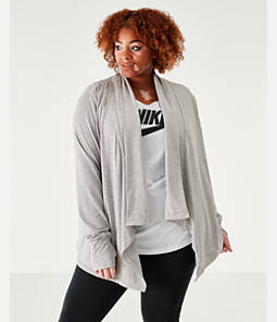 Women's Nike Yoga Long Sleeve Wrap Top - Plus Size