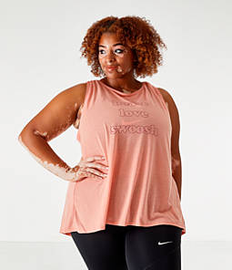 Women's Nike Yoga Graphic Tank - Plus Size