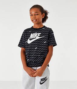 Boys' Nike Sportswear Hybrid Allover Print T-Shirt