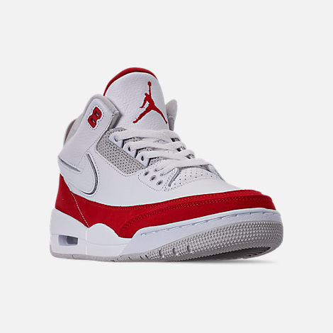 5611cd3fe0f1 Three Quarter view of Men s Air Jordan Retro 3 TH SP Basketball Shoes in  White