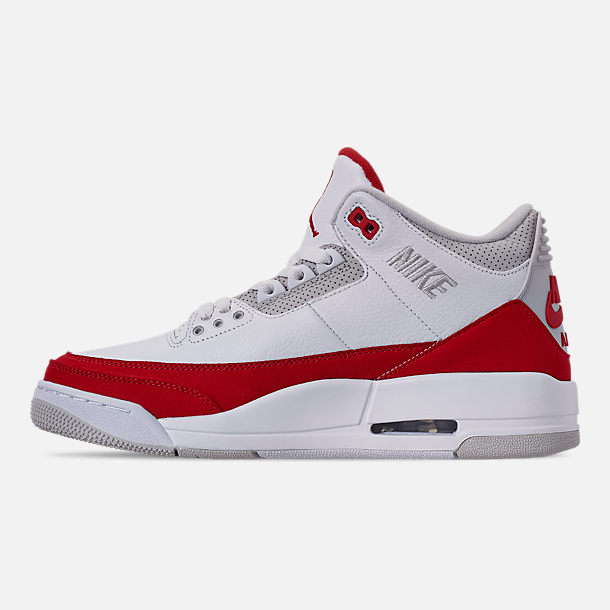 pretty nice 74587 9810a Left view of Men s Air Jordan Retro 3 TH SP Basketball Shoes in White  University