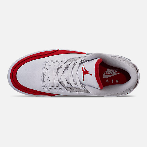 superior quality d36a5 40667 Top view of Men s Air Jordan Retro 3 TH SP Basketball Shoes in White  University