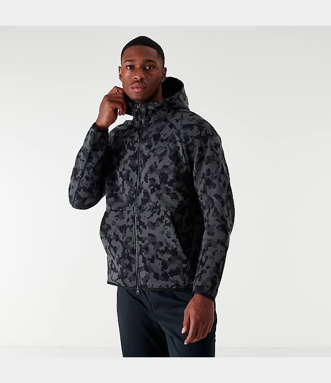 Men's Nike Sportswear Allover Print Tech Fleece Full Zip Hoodie