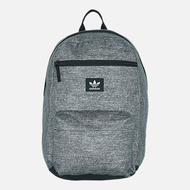 Front view of adidas Originals National Backpack in Onyx Jersey