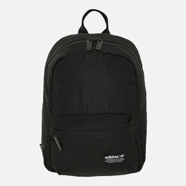 Front view of adidas Originals National Compact Backpack in Black