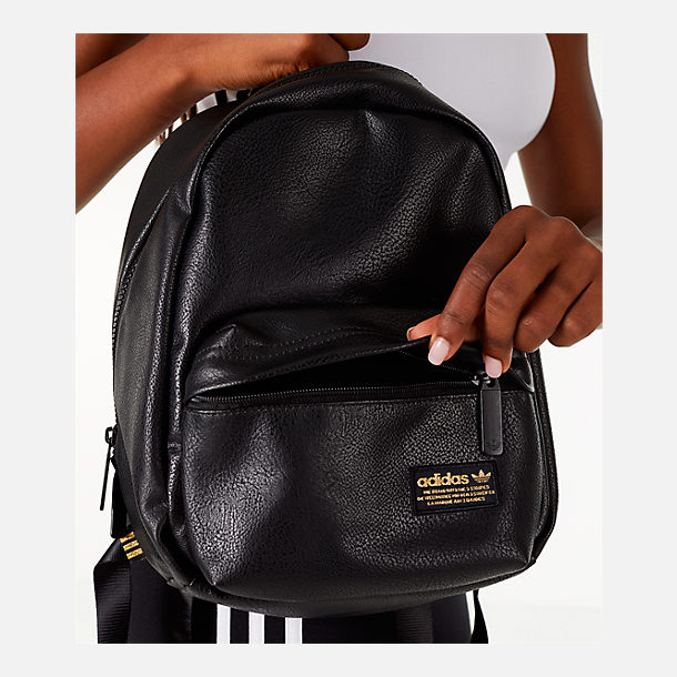 Alternate view of adidas Originals Compact Premium Mini Backpack in Black PU Leather