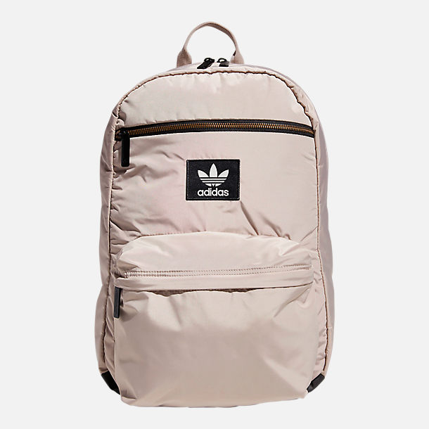 Front view of adidas Originals National Plus Backpack in Vapour Grey