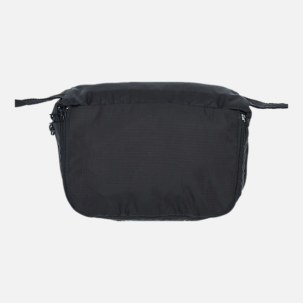 Back view of adidas Originals Packable Two-Way Bag in Black/White