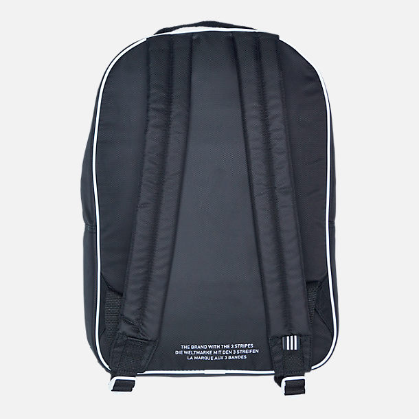 Back view of adidas Originals Santiago Backpack in Black