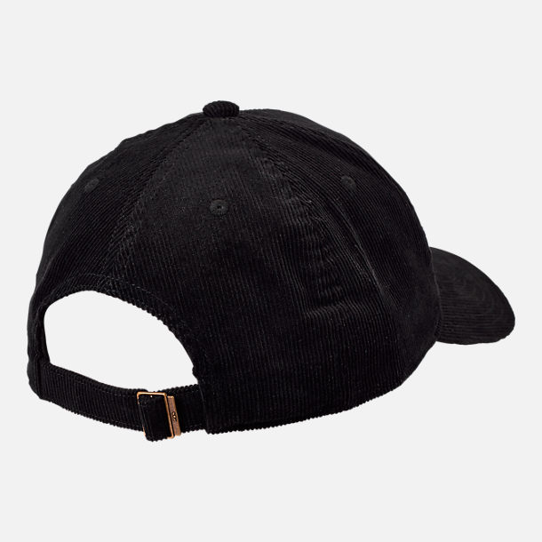 Alternate view of adidas Originals Relaxed Corduroy Adjustable Back Hat in Black