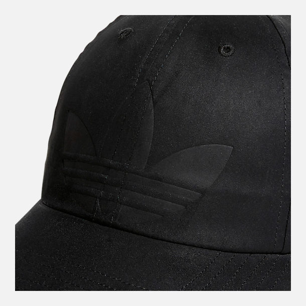Alternate view of Women's adidas Originals Debossed Relaxed Strapback Hat in Black