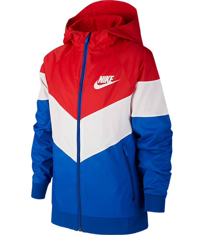 047cffb1596d9 Front view of Boys' Nike Sportswear Windrunner Jacket in University  Red/Summit White