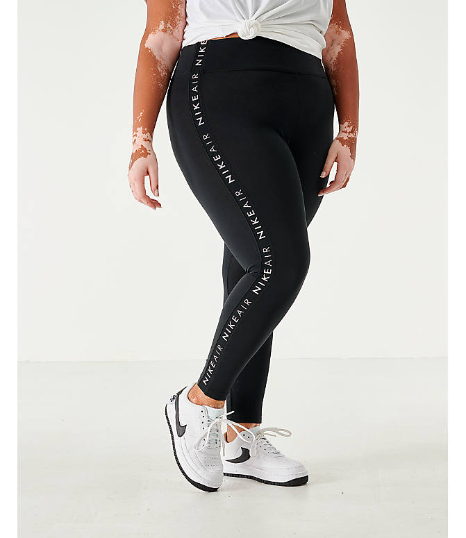 Front view of Women's Nike Sportswear Air Tape Leggings - Plus Size in Black