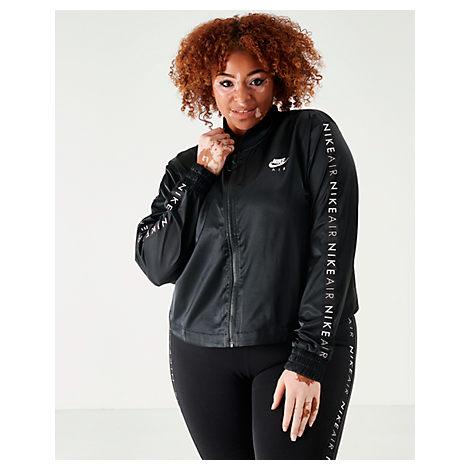 91b2c3b3e Women's Air Satin Track Jacket - Plus Size, Black - Size 3X