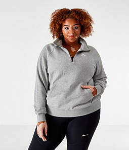 Women's Nike Sportswear Essential Quarter-Zip Fleece Top - Plus Size