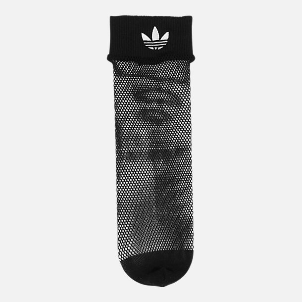 Alternate view of Women's adidas Originals Fishnet Ankle Socks in Black