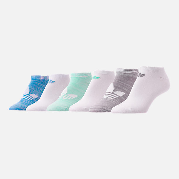 Front view of Women's adidas Originals 6-Pack No-Show Socks