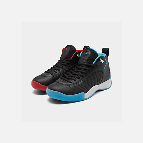 97c443e2acad Three Quarter view of Men s Air Jordan Jumpman Pro Basketball Shoes in Black Gym  Red