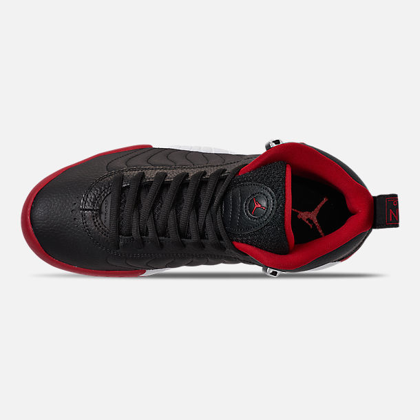 big sale a316d 3b9cd Top view of Men s Air Jordan Jumpman Pro Basketball Shoes in Black Gym Red