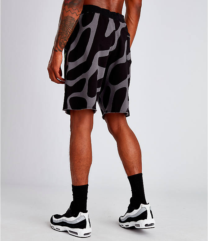 Back Left view of Men's Nike Sportswear Gel Retro Future Shorts in Black