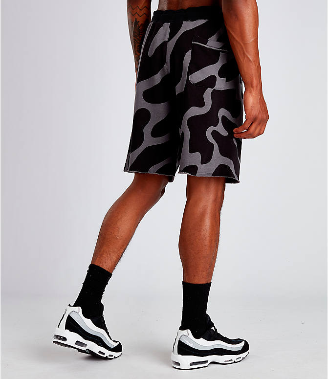 Back Right view of Men's Nike Sportswear Gel Retro Future Shorts in Black