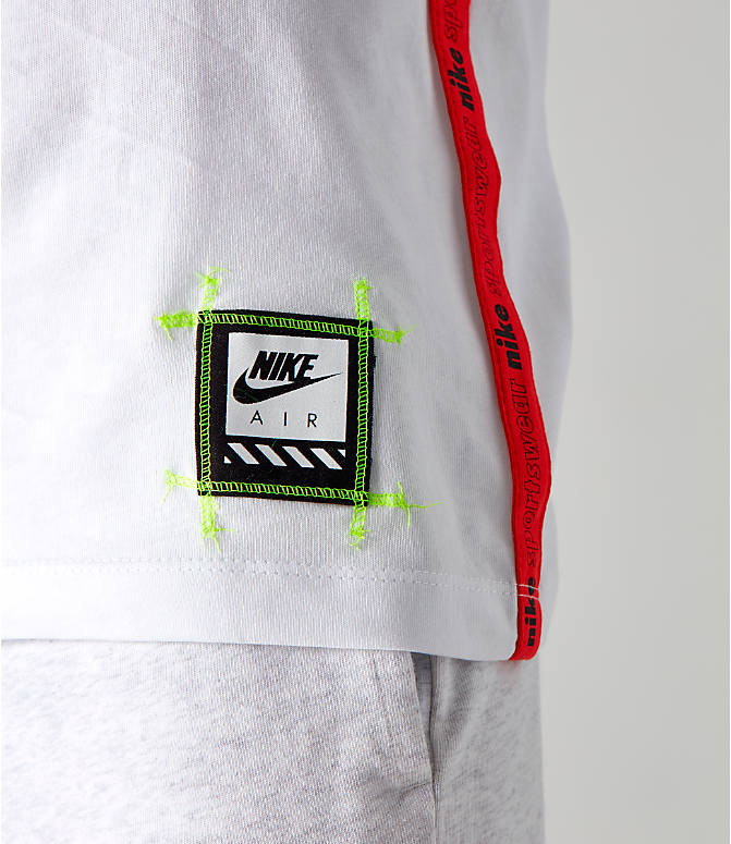 Detail 2 view of Boys' Nike Sportswear Retro Future Tape T-Shirt in White