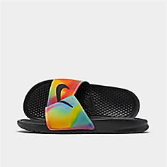 Men's Nike Benassi JDI Print Tie Dye Slide Sandals