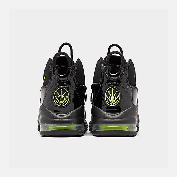 Left view of Men's Nike Air Max Uptempo '95 Basketball Shoes in Black/Volt