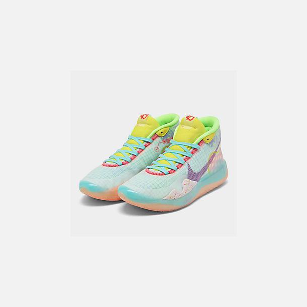 e669dd28af81b Three Quarter view of Boys' Big Kids' Nike Zoom KD12 Basketball Shoes in  Bright