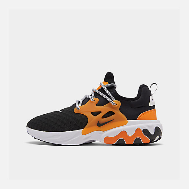Right view of Men's Nike React Presto Running Shoes in Black/White/Bright Ceramic