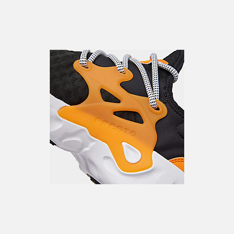 Front view of Men's Nike React Presto Running Shoes in Black/White/Bright Ceramic