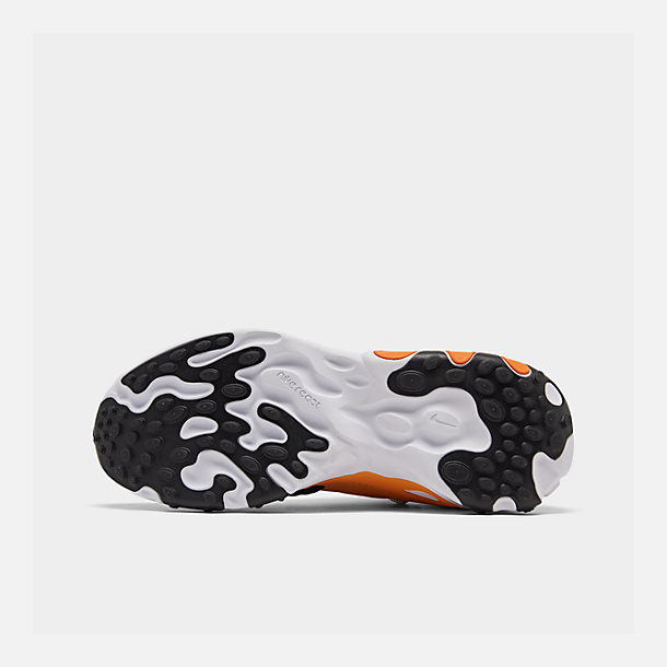 Bottom view of Men's Nike React Presto Running Shoes in Black/White/Bright Ceramic