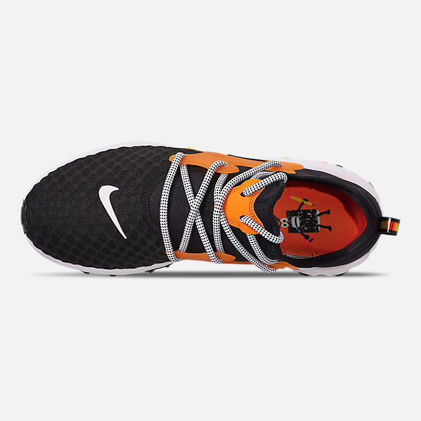 Top view of Men's Nike React Presto Running Shoes in Black/White/Bright Ceramic