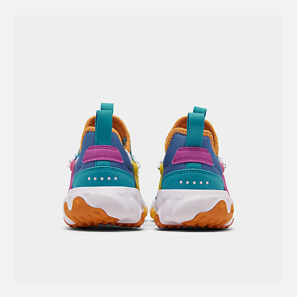 Left view of Little Kids' Nike React Presto Running Shoes in Mountain Blue/White/Light Current Blue