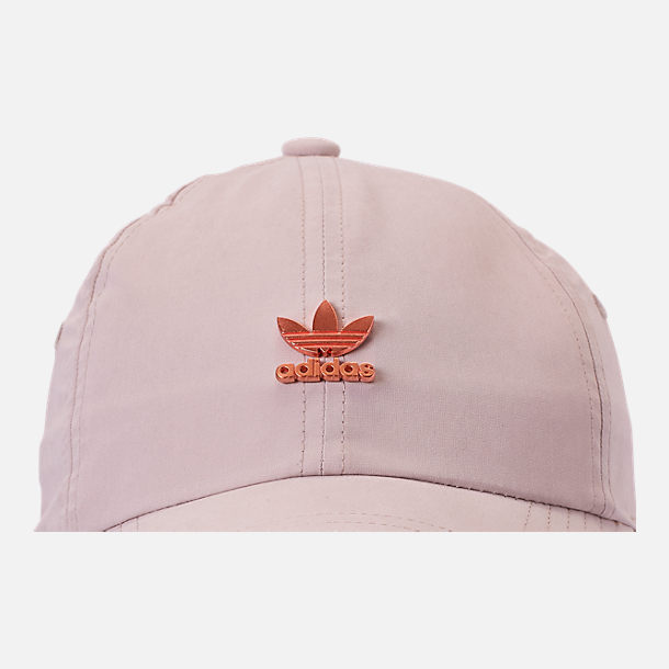 Alternate view of adidas Originals Metal Relaxed Adjustable Back Hat in Clear Brown/Rose Gold