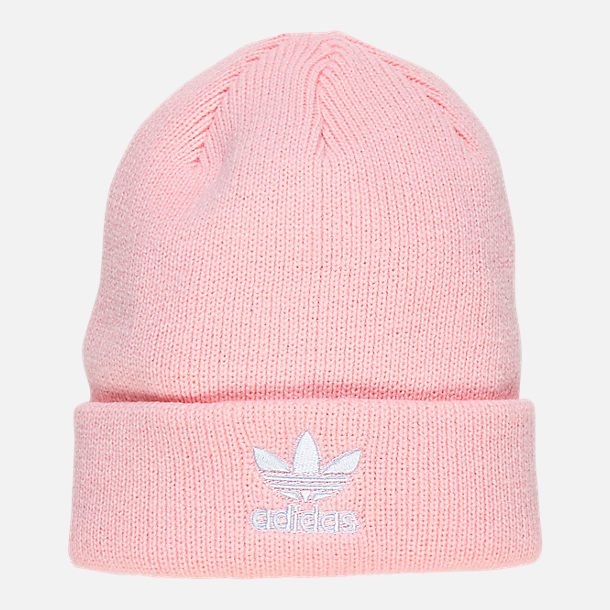 Front view of Women's adidas Originals Trefoil Beanie