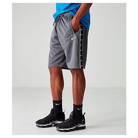Nike Men's Sportswear Swoosh Shorts In Grey
