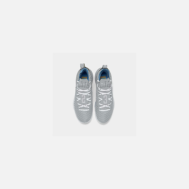 best cheap 6169d 7d214 Back view of Men s Nike LeBron 16 Basketball Shoes in Wolf Grey White  University