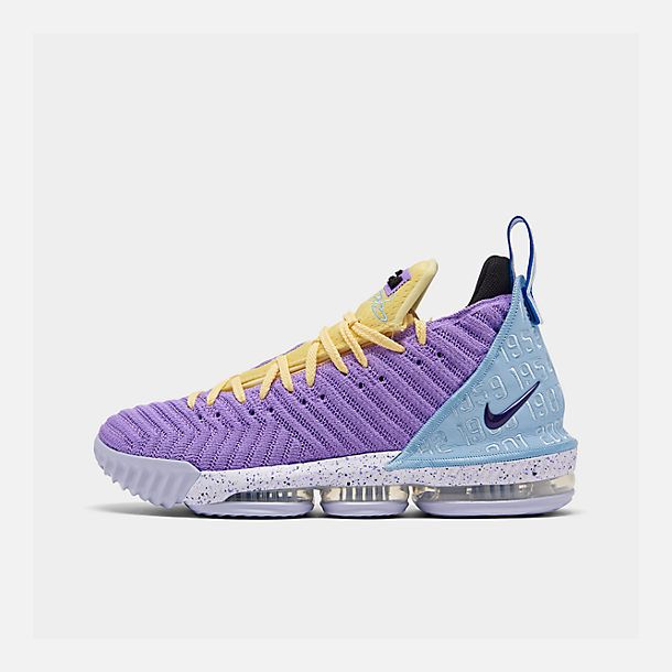 cff92af06d4c Right view of Men's Nike LeBron 16 Basketball Shoes in Atomic  Violet/Bicycle Yellow/