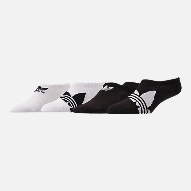 Front view of Men's adidas Trefoil 6-Pack Footie Socks