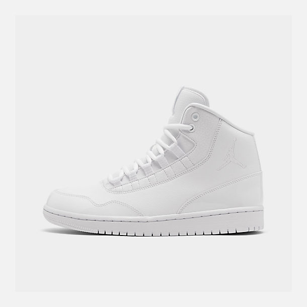 Right view of Men's Air Jordan Executive Off-Court Shoes in White/White Patent