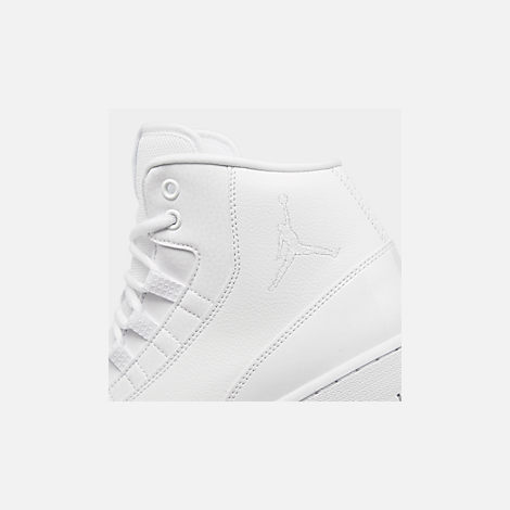 Front view of Men's Air Jordan Executive Off-Court Shoes in White/White Patent