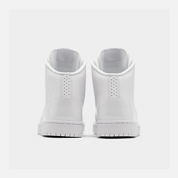 Left view of Men's Air Jordan Executive Off-Court Shoes in White/White Patent