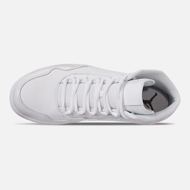 Top view of Men's Air Jordan Executive Off-Court Shoes in White/White Patent
