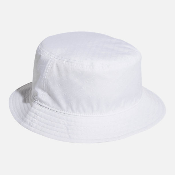 Back view of adidas Originals Embossed Bucket Hat in White