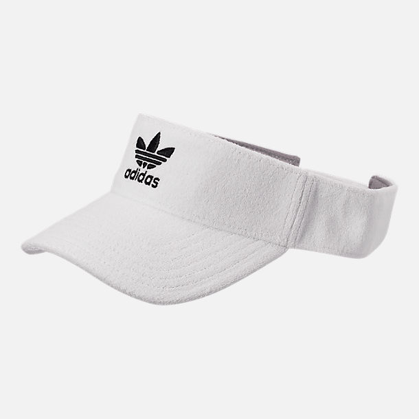 b5408328 Front view of adidas Originals Terry Visor in White/Black