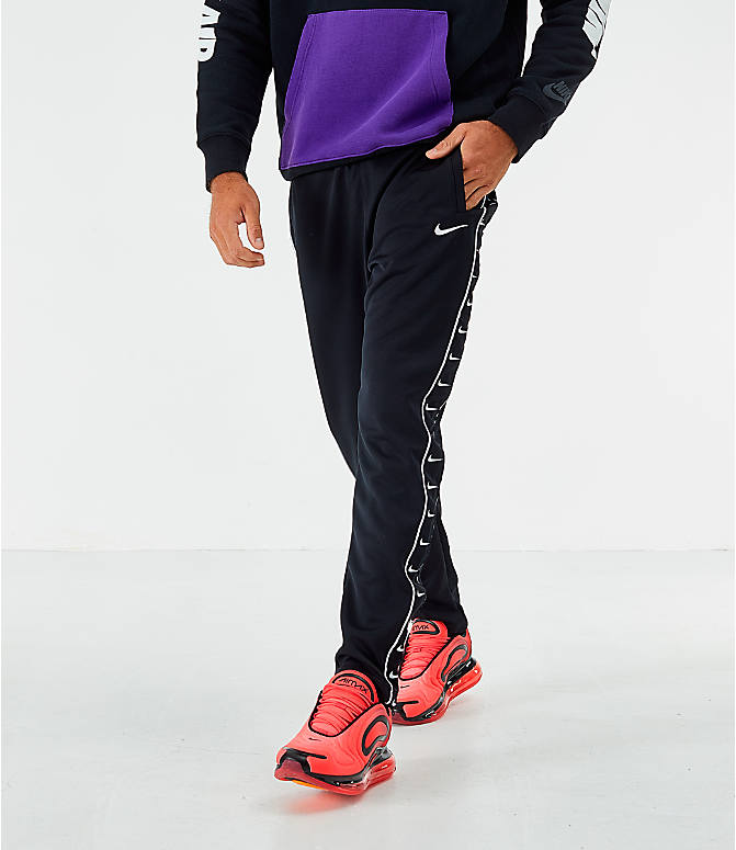 Back Left view of Men's Nike Sportswear Swoosh Training Pants in Black