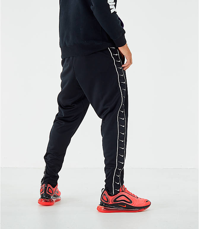 Back Right view of Men's Nike Sportswear Swoosh Training Pants in Black