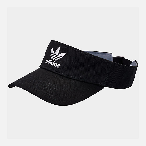 Front view of adidas Originals Twill Visor in Black/White